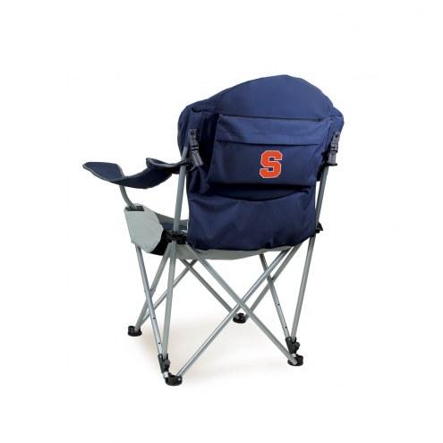 Syracuse Orange Navy Reclining Camp Chair