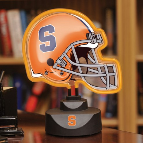 Syracuse Orange Neon Helmet Desk Lamp