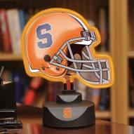 Syracuse Orange Neon Helmet Desk Lamp