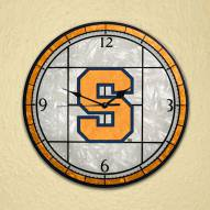Syracuse Orange NCAA Stained Glass Wall Clock