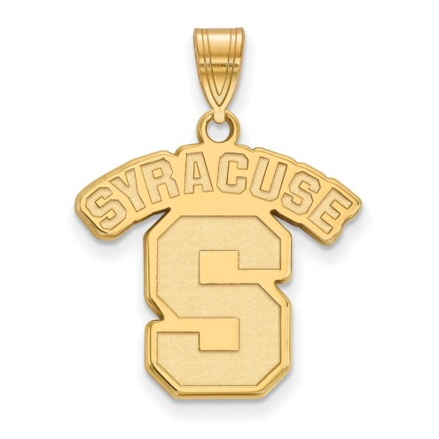 Syracuse Orange NCAA Sterling Silver Gold Plated Large Pendant