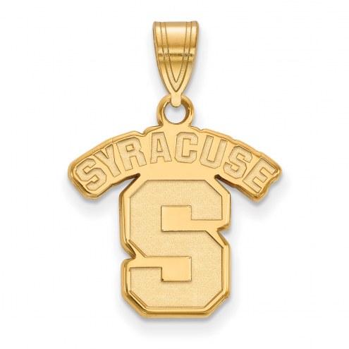 Syracuse Orange NCAA Sterling Silver Gold Plated Medium Pendant