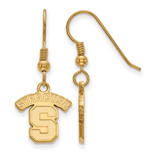 Syracuse Orange NCAA Sterling Silver Gold Plated Small Dangle Earrings