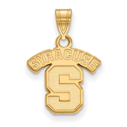 Syracuse Orange NCAA Sterling Silver Gold Plated Small Pendant