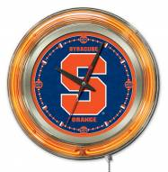 Syracuse Orange Neon Clock