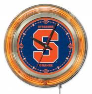 Syracuse Orange Neon Clock