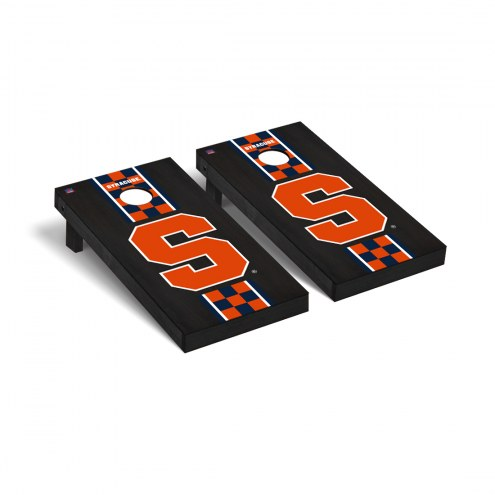 Syracuse Orange Onyx Stained Cornhole Game Set