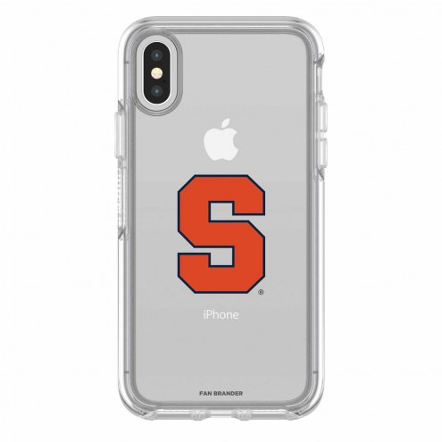 Syracuse Orange OtterBox iPhone X Symmetry Clear Case