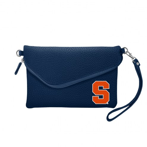 Syracuse Orange Pebble Fold Over Purse