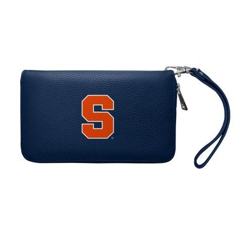 Syracuse Orange Pebble Organizer Wallet