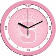 Syracuse Orange Pink Wall Clock
