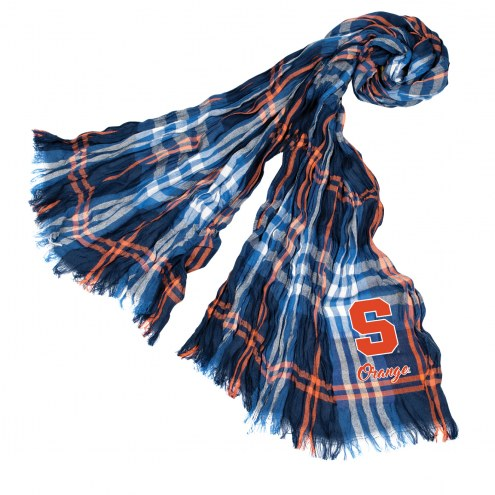 Syracuse Orange Plaid Crinkle Scarf