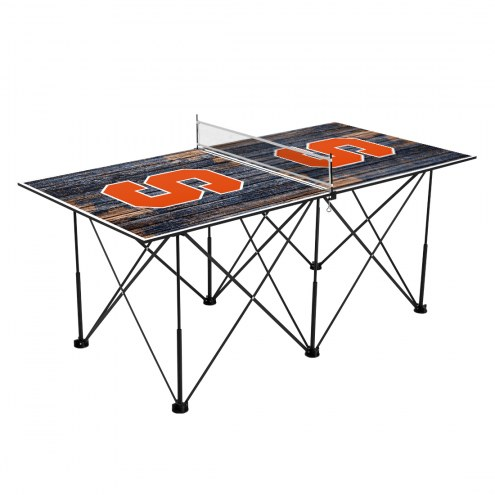 Syracuse Orange Pop Up 6' Ping Pong Table