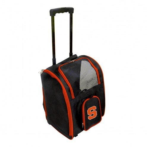 Syracuse Orange Premium Pet Carrier with Wheels