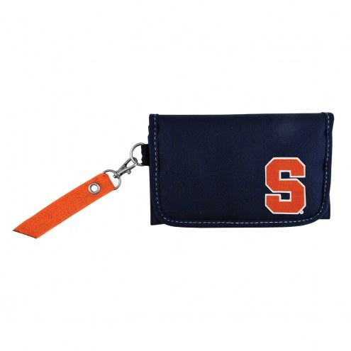 Syracuse Orange Ribbon Organizer Wallet