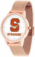 Syracuse Orange Rose Mesh Statement Watch