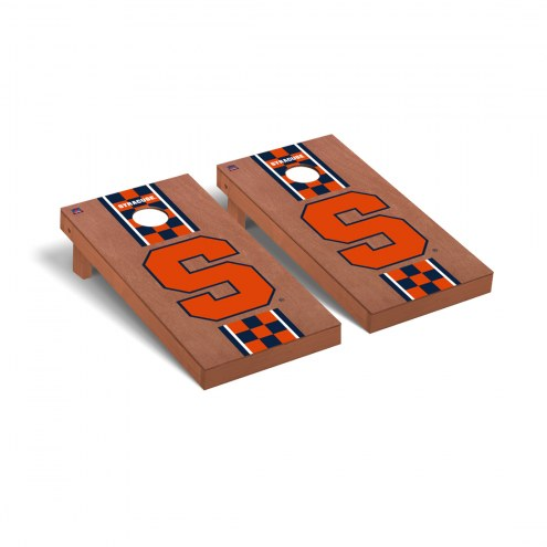 Syracuse Orange Rosewood Stained Cornhole Game Set