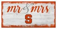 Syracuse Orange Script Mr. & Mrs. Sign
