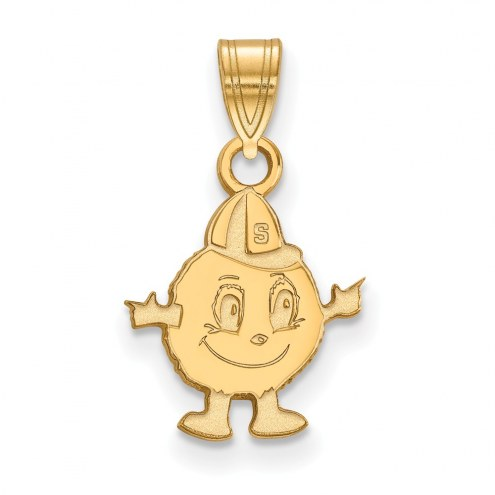 Syracuse Orange Sterling Silver Gold Plated Small Pendant