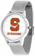 Syracuse Orange Silver Mesh Statement Watch