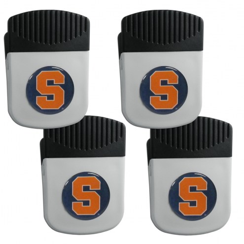 Syracuse Orange 4 Pack Chip Clip Magnet with Bottle Opener