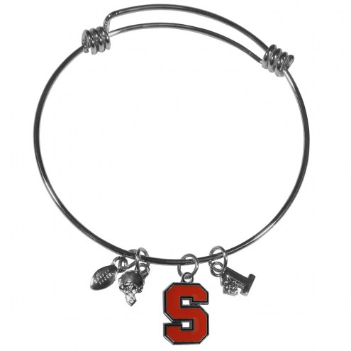 Syracuse Orange Charm Bangle Bracelet