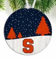 Syracuse Orange Snow Scene Ornament