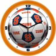 Syracuse Orange Soccer Wall Clock