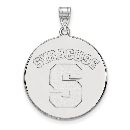 Syracuse Orange Sterling Silver Extra Large Disc Pendant