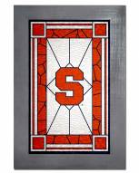 Syracuse Orange Stained Glass with Frame