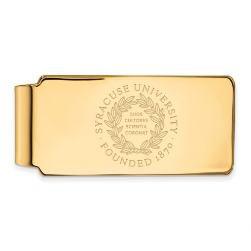Syracuse Orange Sterling Silver Gold Plated Crest Money Clip