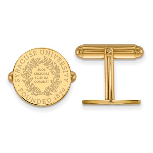 Syracuse Orange Sterling Silver Gold Plated Cuff Links