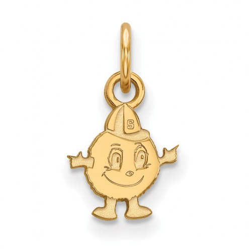 Syracuse Orange Sterling Silver Gold Plated Extra Small Pendant