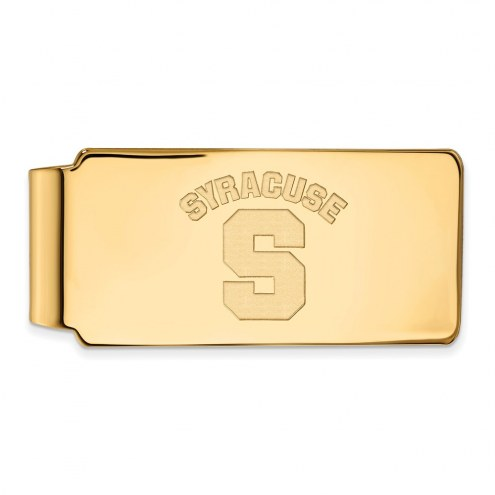 Syracuse Orange Sterling Silver Gold Plated Money Clip
