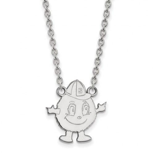 Syracuse Orange Sterling Silver Large Pendant Necklace