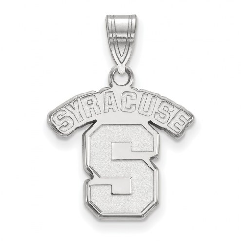 Syracuse Orange Sterling Silver Medium Pendant