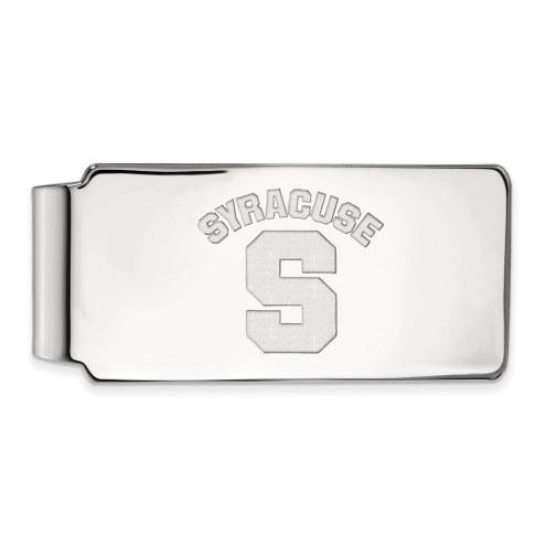 Syracuse Orange Sterling Silver Money Clip