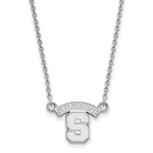 Syracuse Orange Sterling Silver Small Pendant Necklace
