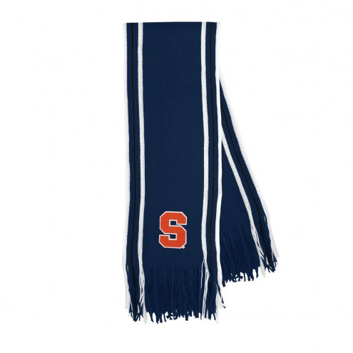 Syracuse Orange Stripe Fringe Scarf
