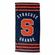 Syracuse Orange Stripes Beach Towel