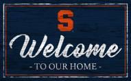 Syracuse Orange Team Color Welcome Sign