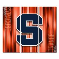 Syracuse Orange Triptych Rush Canvas Wall Art