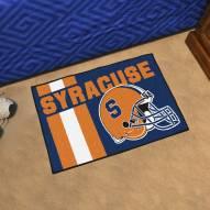 Syracuse Orange Uniform Inspired Starter Rug