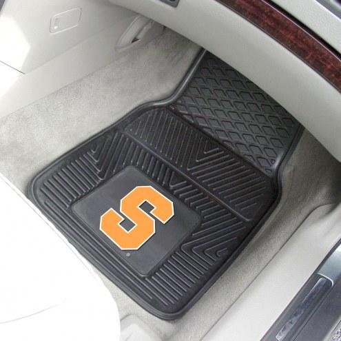 Syracuse Orange Vinyl 2-Piece Car Floor Mats