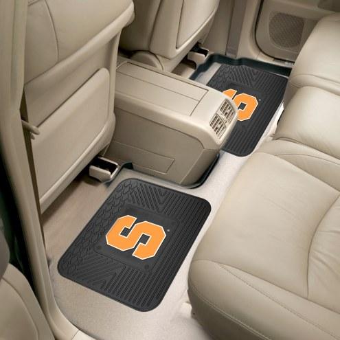 Syracuse Orange Vinyl 2-Piece Rear Floor Mats