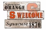 Syracuse Orange Welcome 3 Plank Sign