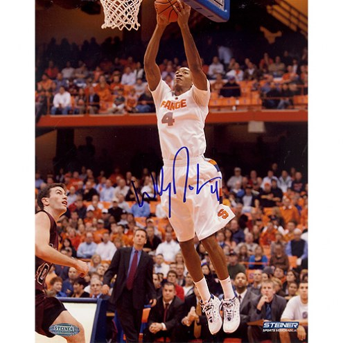 "Syracuse Orange Wesley Johnson Two Handed Dunk Signed 16"" x 20"" Photo"