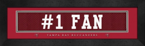 "Tampa Bay Buccaneers ""#1 Fan"" Stitched Jersey Framed Print"