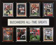"""Tampa Bay Buccaneers 12"""" x 15"""" All-Time Greats Plaque"""