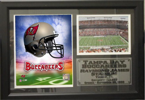 """Tampa Bay Buccaneers 12"""" x 18"""" Photo Stat Frame"""